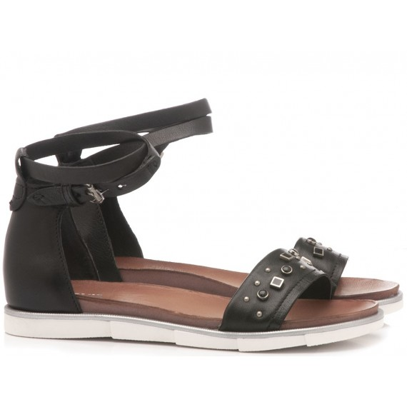 Cuir Veau Women's Sandals 740022 Black