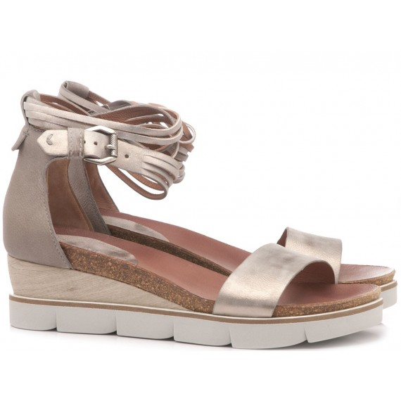 Cuir Veau Women's Sandals 866005 Grey