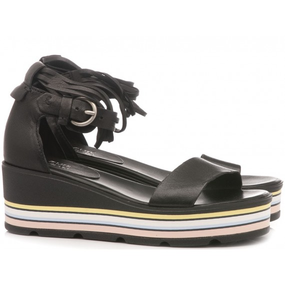 Cuir Veau Women's Sandals 828007 Black