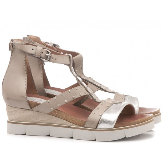 Cuir Veau Women's Sandals 866007 Inox