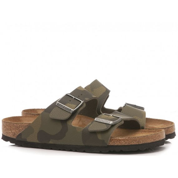 Birkenstock Men's Sandals Arizona Leather Camouflage