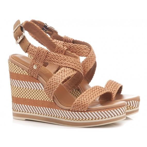Tommy Hilfiger Women's Sandals Wedge Heels Raffia