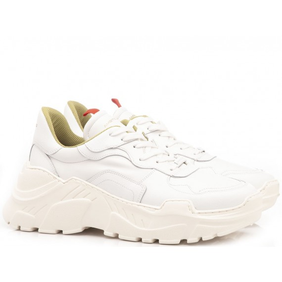 Ambitious Men's Shoes-Sneakers Leather White 9286A
