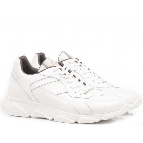 Ambitious Scarpe Sneakers Uomo Pelle Bianco 8894