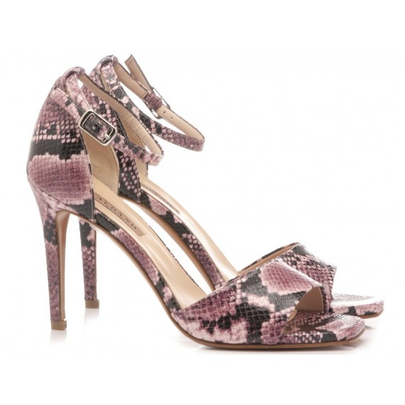 Albano Women's Sandals High Heels Python Pink 1214