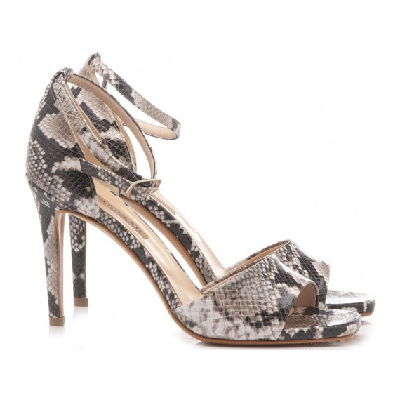 Albano Women's Sandals High Heels Python Ice 1214