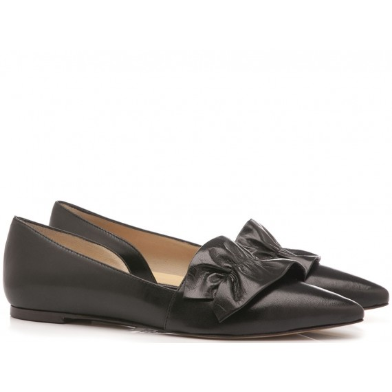 What For Women's Ballerina Shoes Siviglia Black 1090