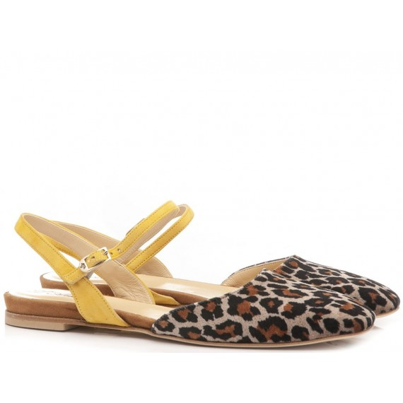 What For Women's Ballerina Shoes Leopard Taupe CH2027