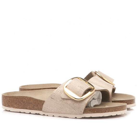 Birkenstock Women's Sandals Madrid Leather Metallic Rose