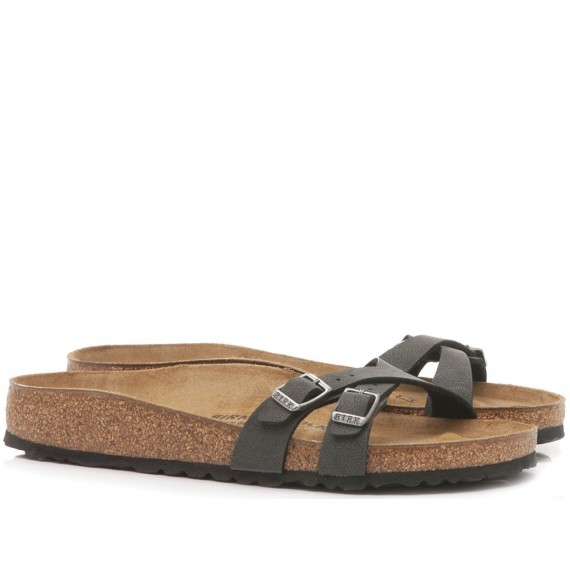 Birkenstock Women's Sandals Almere Brushed Black