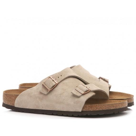 Birkenstock Men's Sandals Zurich BS Suede Taupe