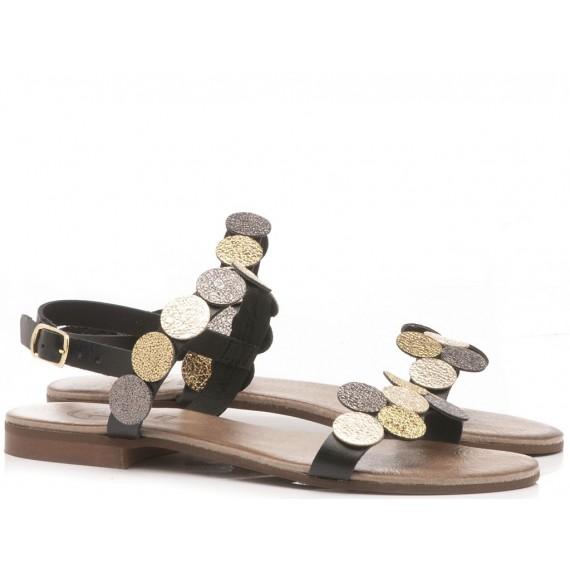 Diciotto Più Women's Sandals Leather Black