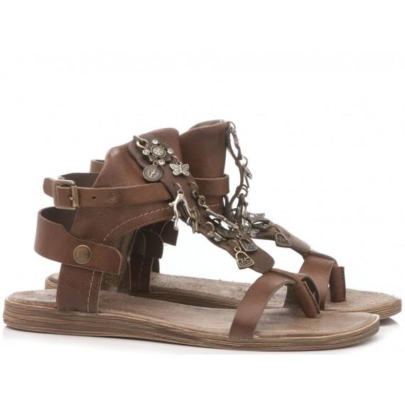 Diciotto Più Sandalo Donna Pelle Cacao