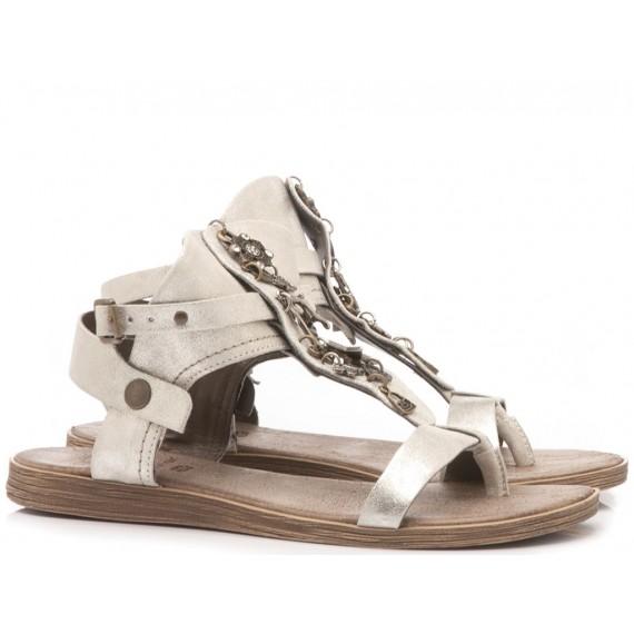 Diciotto Più Sandalo Donna Pelle Perla