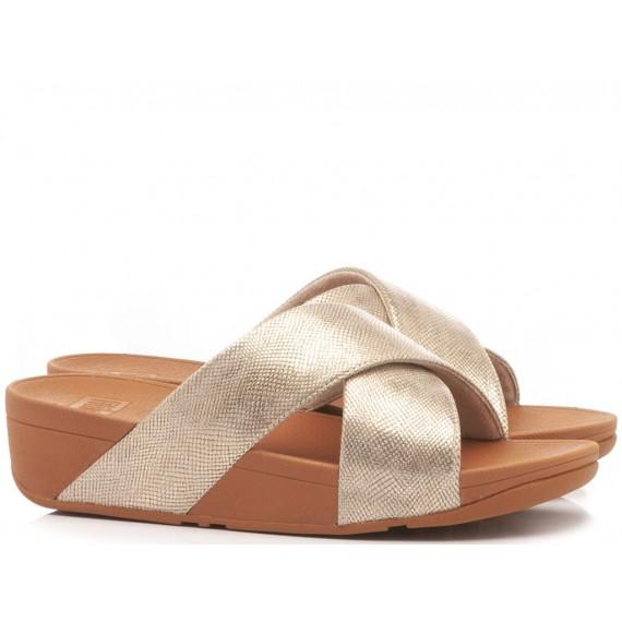 Fitflop Sandalo-Ciabatta Zeppa Lulu Gold