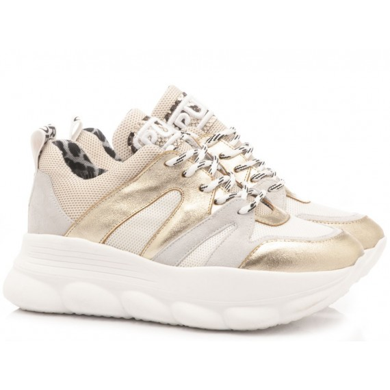 Méliné Women's Sneakers Leather Platinum Beige OP402