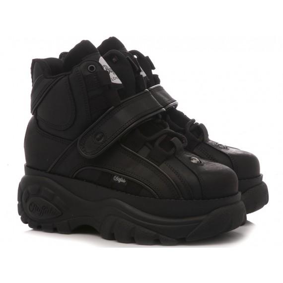 Buffalo London Women's High Sneakers Black