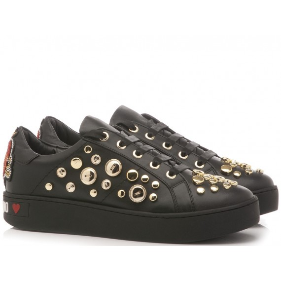 Love Moschino Women's Sneakers Polyurethane Black