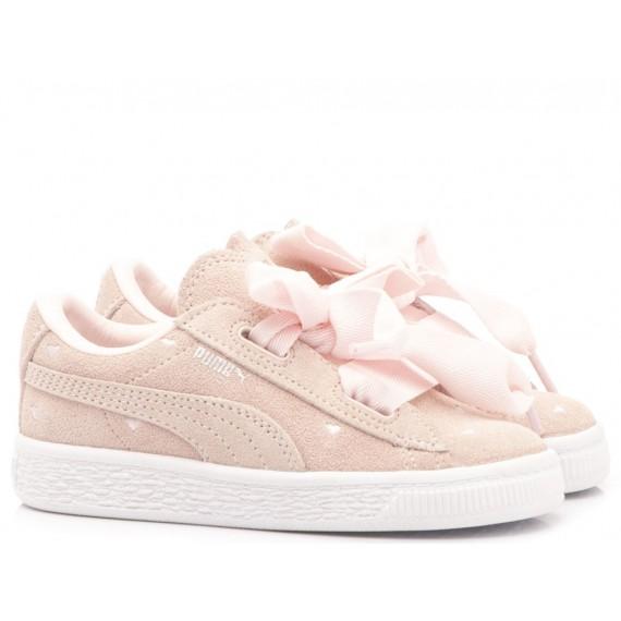 Puma Children's Sneakers Suede Heart Valentine Inf 365137-03