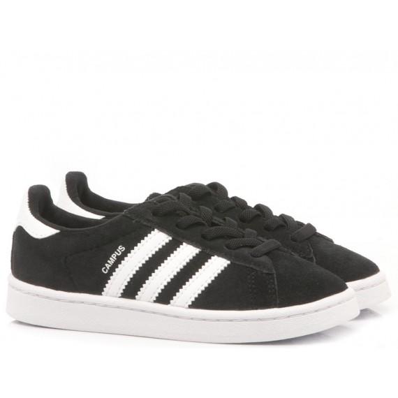 Adidas Sneakers Bambini Campus EL I Camoscio Nero BY9599