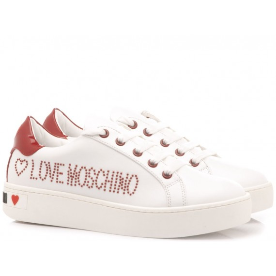 Love Moschino Sneakers Donna Pelle Bianco