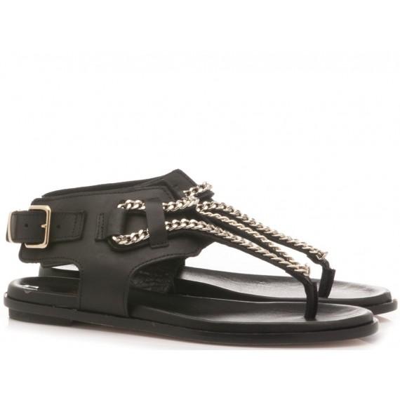 Crown Women's Thongs Sandals Black
