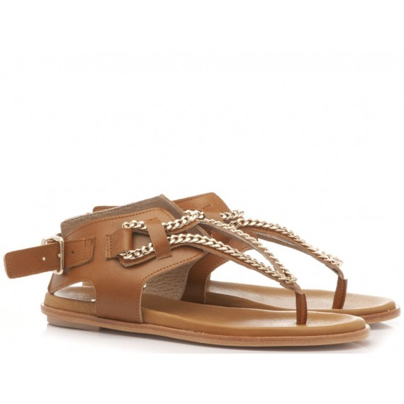 Crown Women's Thongs Sandals Brown