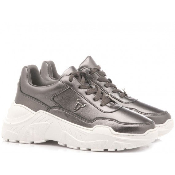 Windsor Smith Sneakers Donna Carte Gunmetal