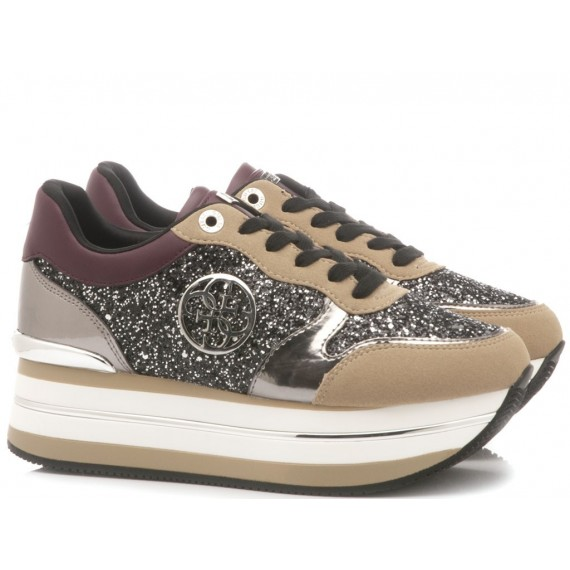 Guess Women's Shoes-Sneakers Leather Nude
