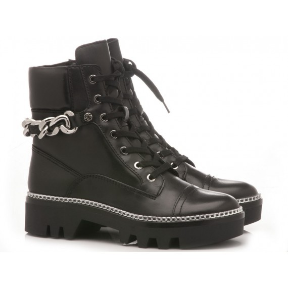Guess Women's Ankle Boots Leather Black