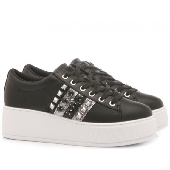 Guess Women's Shoes-Sneakers Leather Black