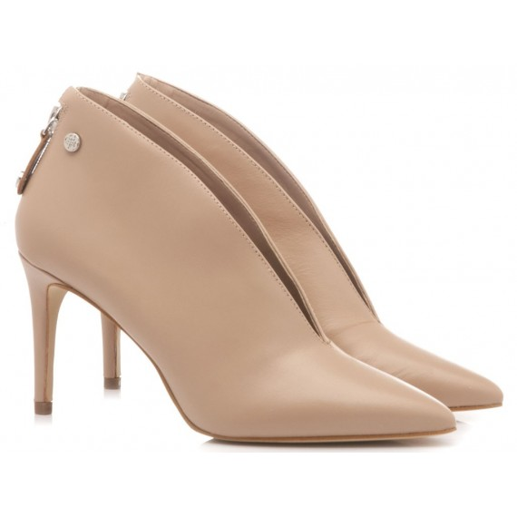 Guess Women's Ankle Boots Leather Nude