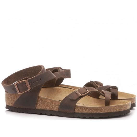 Birkenstock Sandalo Donna Yara Pelle Habana