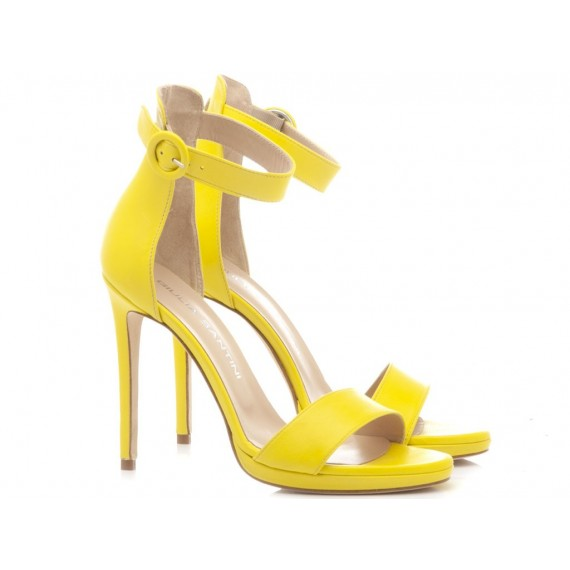 Giulia Santini Women's Sandals Leather Yellow