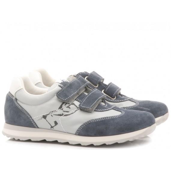 Nero Giardini Children's Shoes Sneakers Leather Blu