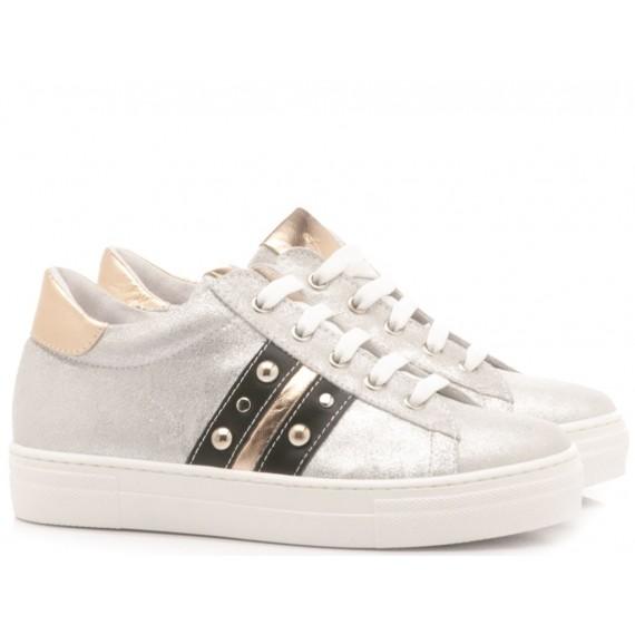 Chiara Luciani Girl's Sneakers 121-18 Silver