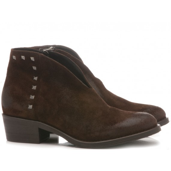 Keb Women's Ankle Boots Suede Ebony 505