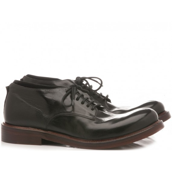 JP David Men's Shoes Leather Black