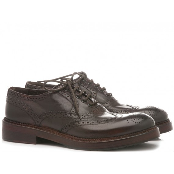 JP David Men's Shoes Leather Candy Brown