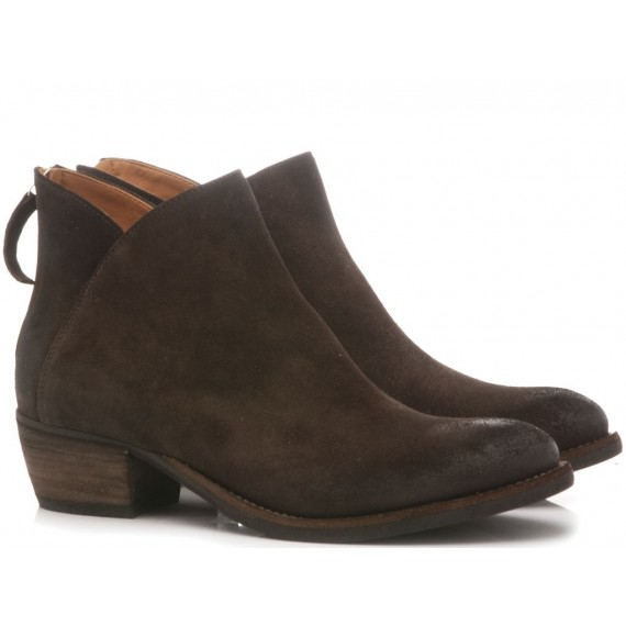 MAT:20 Women's Ankle Boots Suede Coffee 5706