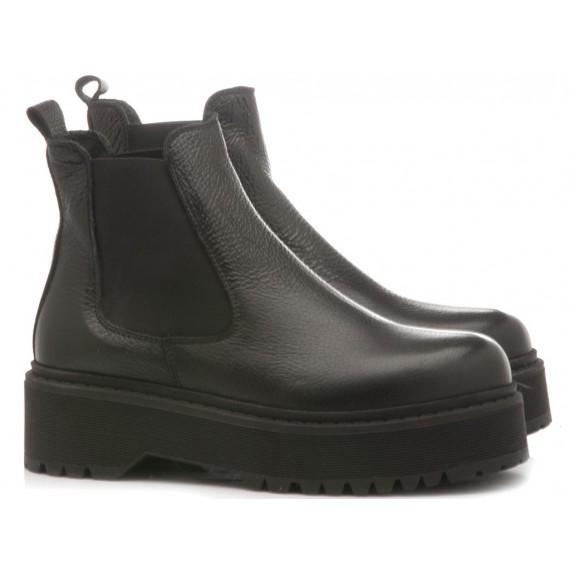 Kammi Women's Ankle Boots Leather Black AL19