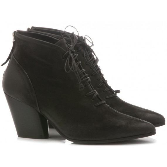 MAT:20 Women's Ankle Boots Suede Black 5652