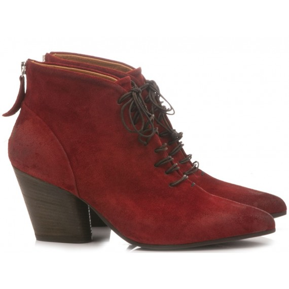 MAT:20 Women's Ankle Boots Suede Wine 5652