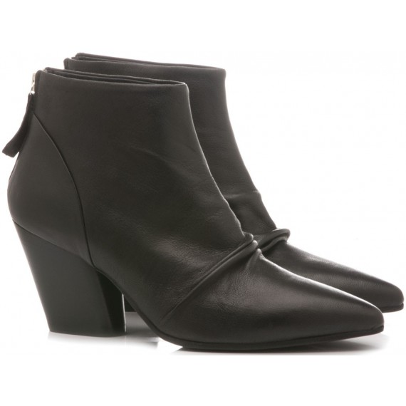 MAT:20 Women's Ankle Boots Leather Black 5600