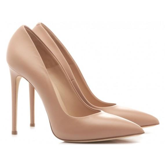 Sergio Levantesi Women's Shoes Decolletè Xena Leather Nude