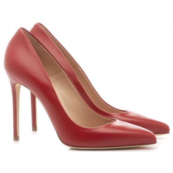 Sergio Levantesi Women's Shoes Decolletè Myss Leather Red