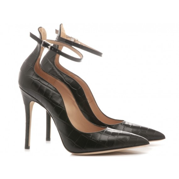 Sergio Levantesi Women's Shoes Decolletè Lilian Leather Black