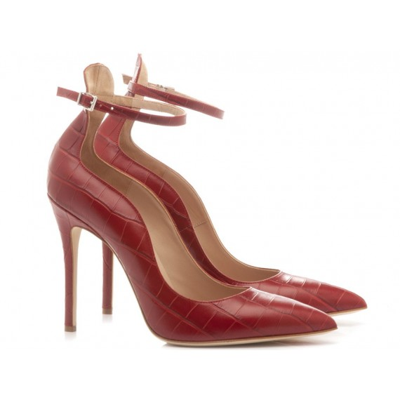 Sergio Levantesi Women's Shoes Decolletè Lilian Leather Red