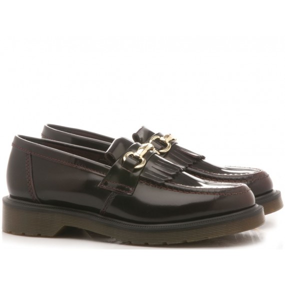 Dr. Martens Women's Loafers Adrian Snaffle Cherry Red