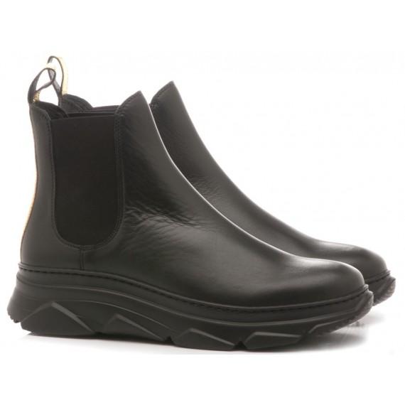 Stokton Women's Ankle Boots Gibus Leather Black